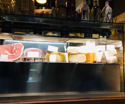 Fresh selections of meats and cheeses at Osteria Enoteca